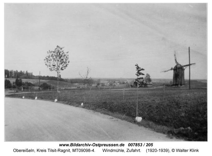 Obereißeln, Windmühle, Zufahrt