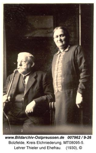 Bolzfelde, Lehrer Thieler und Ehefrau