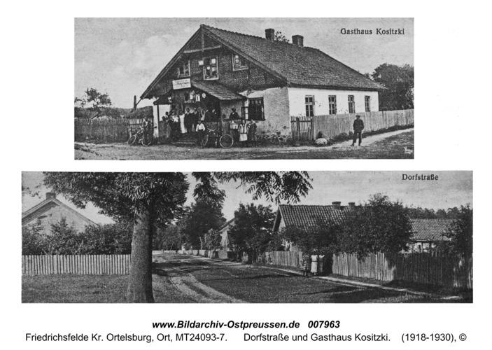 Friedrichsfelde, Dorfstraße und Gasthaus Kositzki