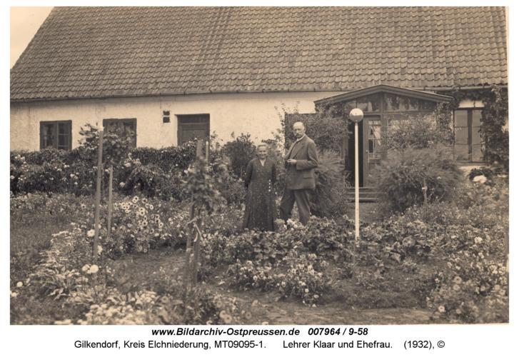 Gilkendorf, Lehrer Klaar und Ehefrau