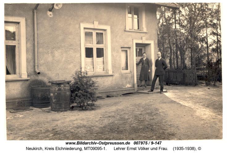 Neukirch, Lehrer Ernst Völker und Frau