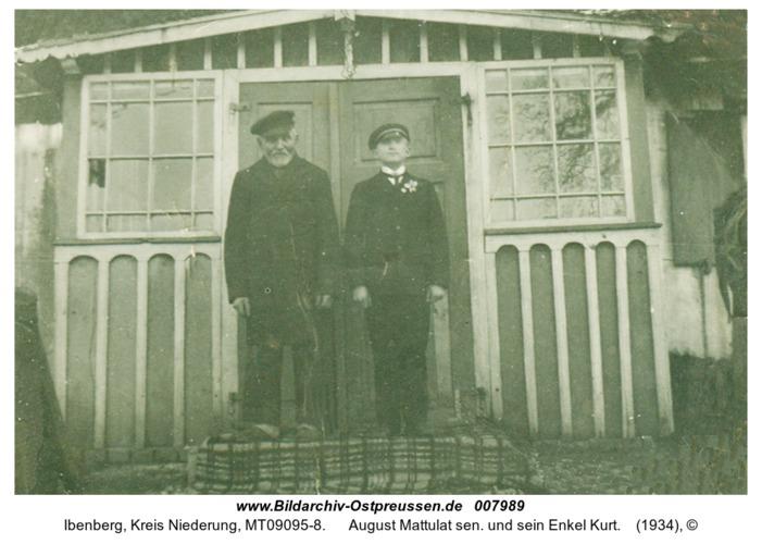 Ibenberg, August Mattulat sen. und sein Enkel Kurt