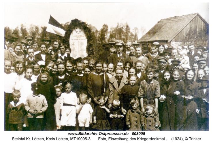 Steintal, Foto, Einweihung des Kriegerdenkmal