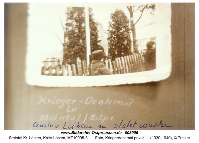 Steintal, Foto, Kriegerdenkmal privat