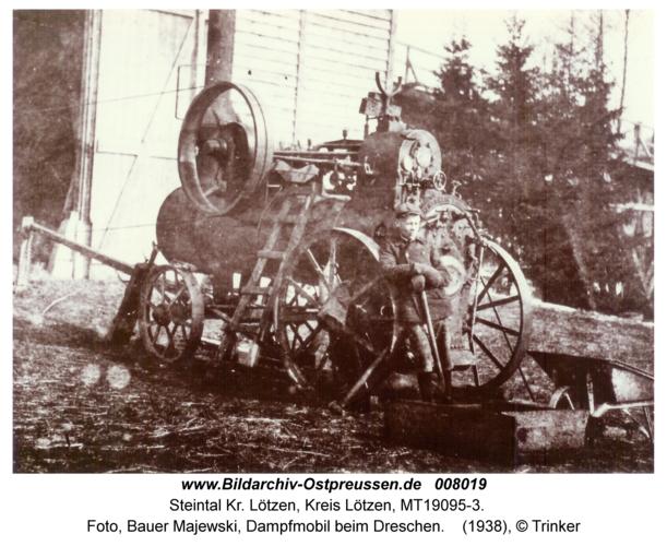 Steintal, Foto, Bauer Majewski, Dampfmobil beim Dreschen