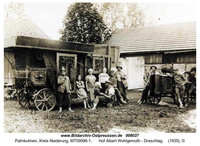 Palinkuhnen, Hof Albert Wohlgemuth - Dreschtag