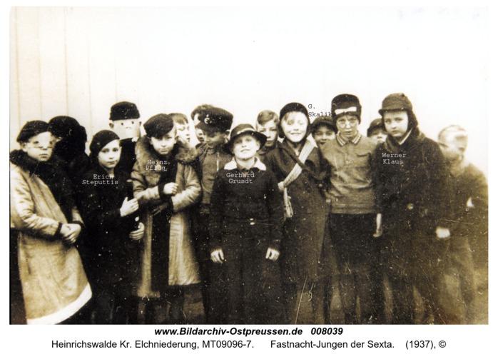 Heinrichswalde, Fastnacht-Jungen der Sexta