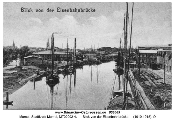 Memel, Blick von der Eisenbahnbrücke