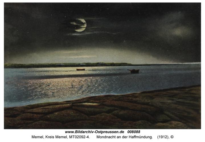 Memel, Mondnacht an der Haffmündung