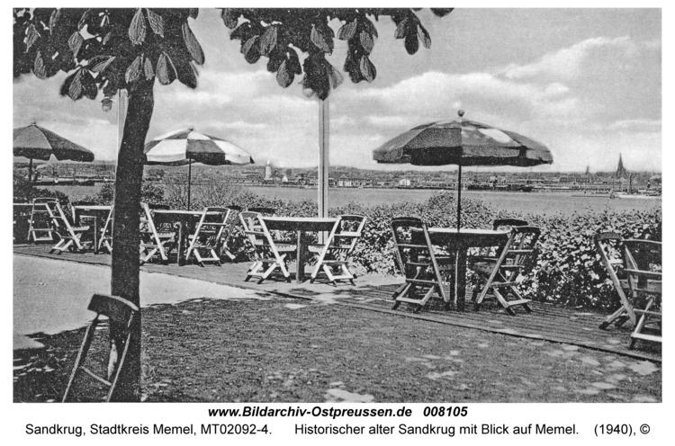 Sandkrug Stadtkr. Memel, Historischer alter Sandkrug mit Blick auf Memel
