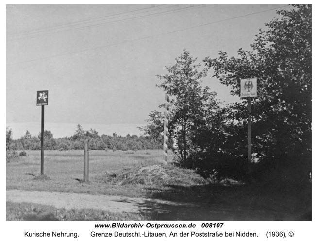 Kurische Nehrung, Grenze Deutschl.-Litauen, An der Poststraße bei Nidden