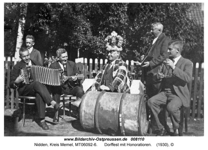 Nidden, Dorffest mit Honoratioren