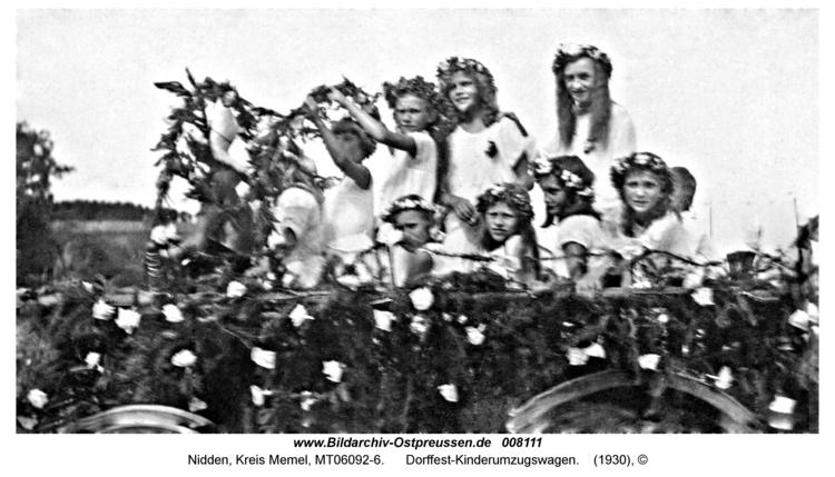 Nidden, Dorffest-Kinderumzugswagen