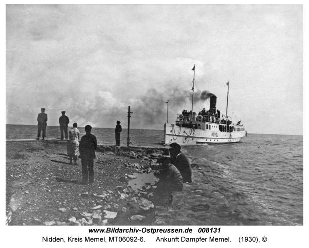 Nidden, Ankunft Dampfer Memel