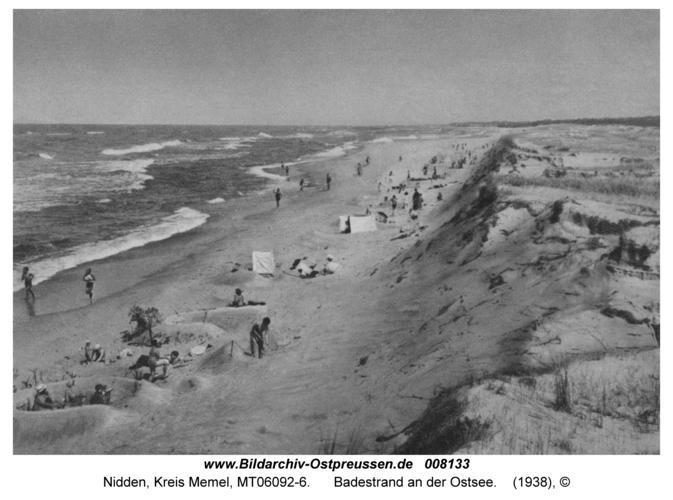 Nidden, Badestrand an der Ostsee