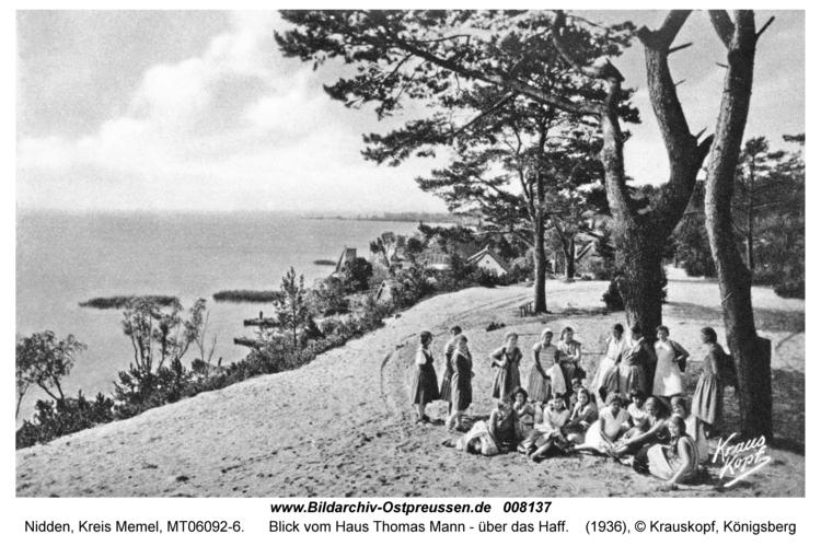Nidden, Blick vom Haus Thomas Mann - über das Haff