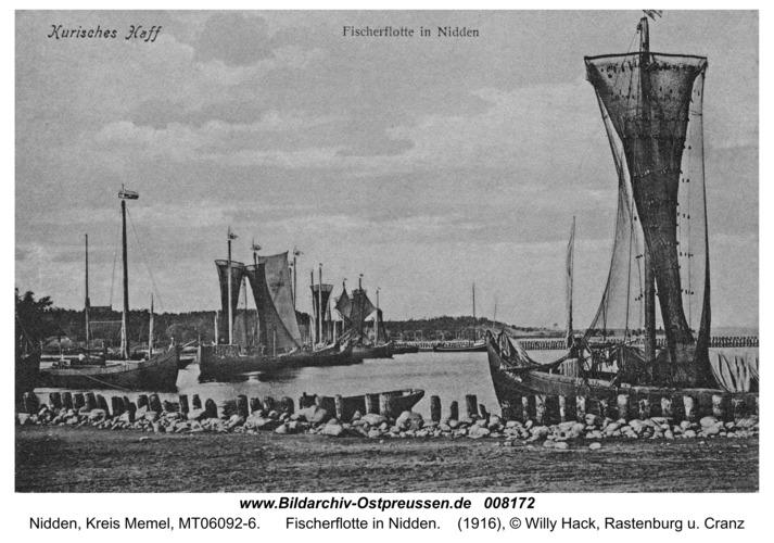Nidden, Fischerflotte in Nidden