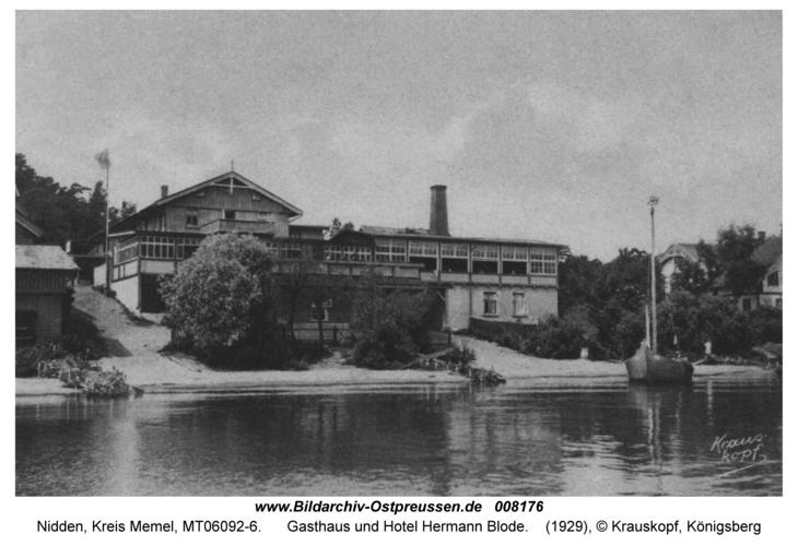 Nidden, Gasthaus und Hotel Hermann Blode