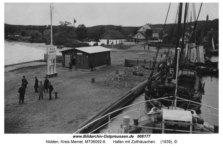 Nidden, Hafen mit Zollhäuschen