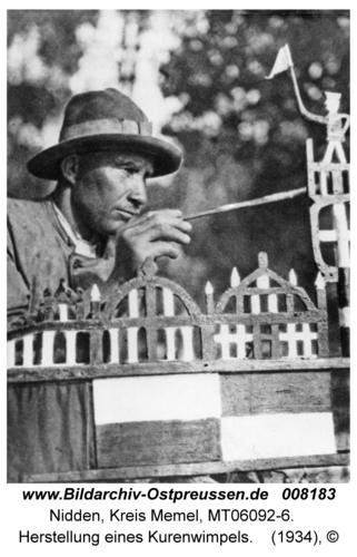 Nidden, Herstellung eines Kurenwimpels