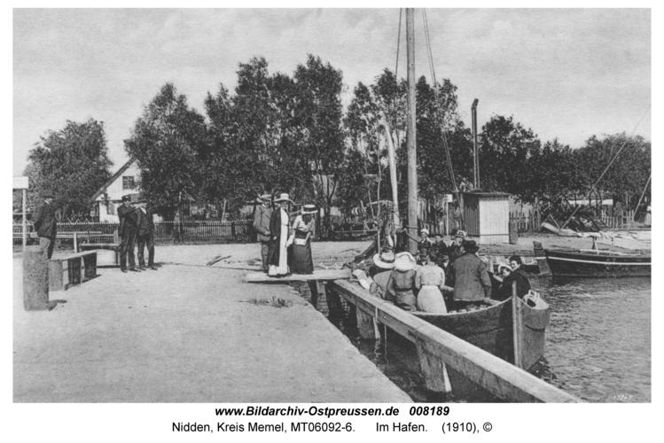 Nidden, Im Hafen