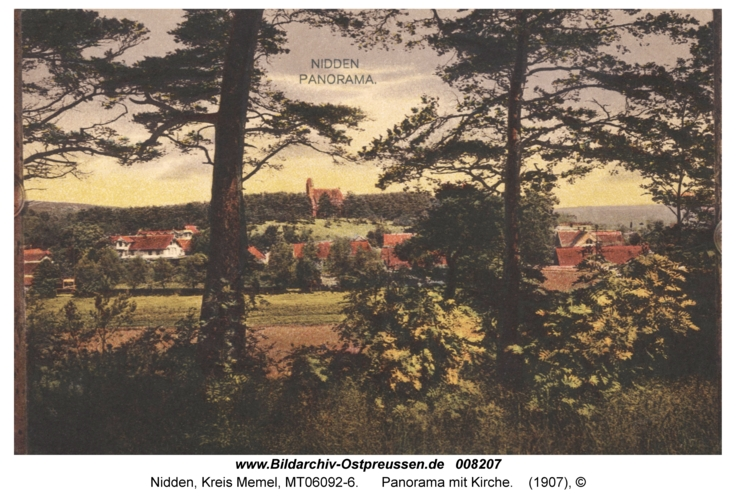Nidden, Panorama mit Kirche