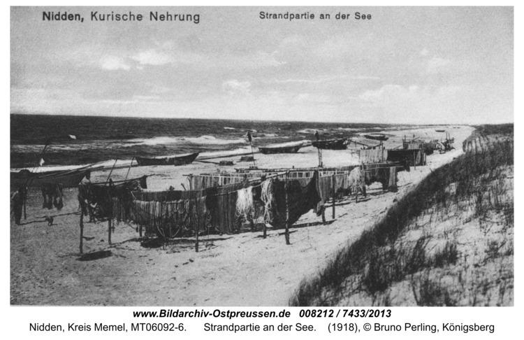 Nidden, Strandpartie an der See