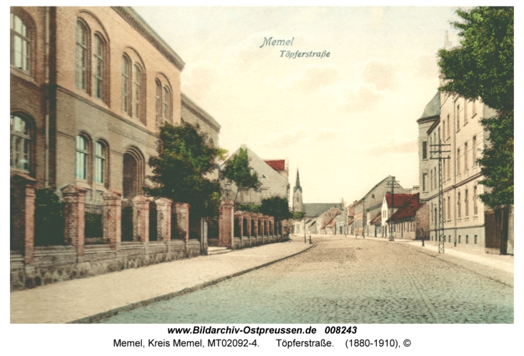 Memel, Töpferstraße