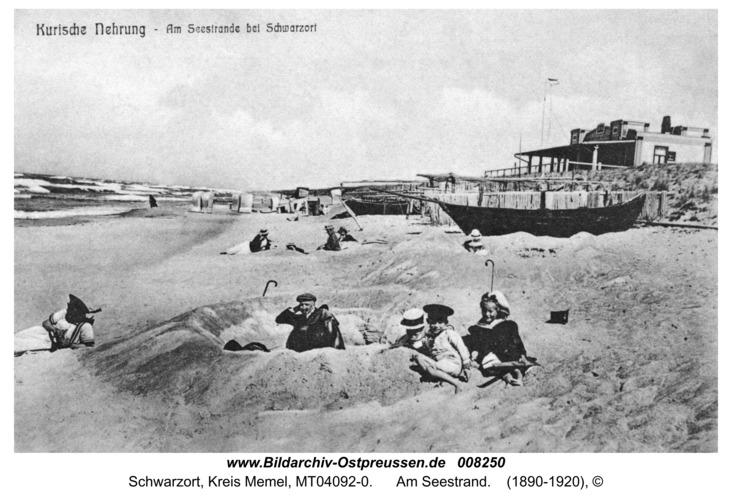 Schwarzort, Am Seestrand