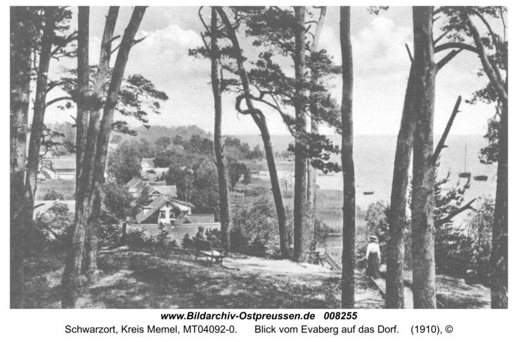 Schwarzort, Blick vom Evaberg auf das Dorf