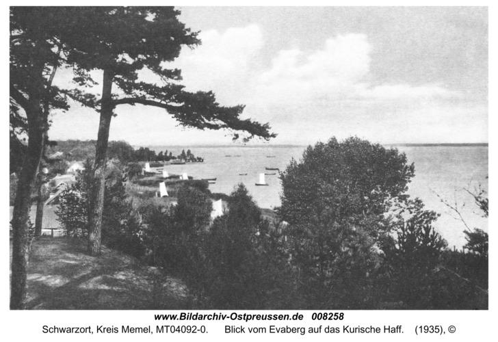 Schwarzort, Blick vom Evaberg auf das Kurische Haff