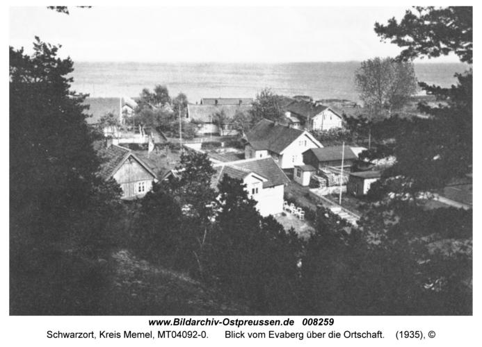 Schwarzort, Blick vom Evaberg über die Ortschaft