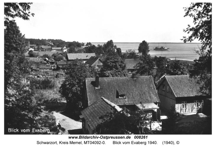 Schwarzort, Blick vom Evaberg 1940