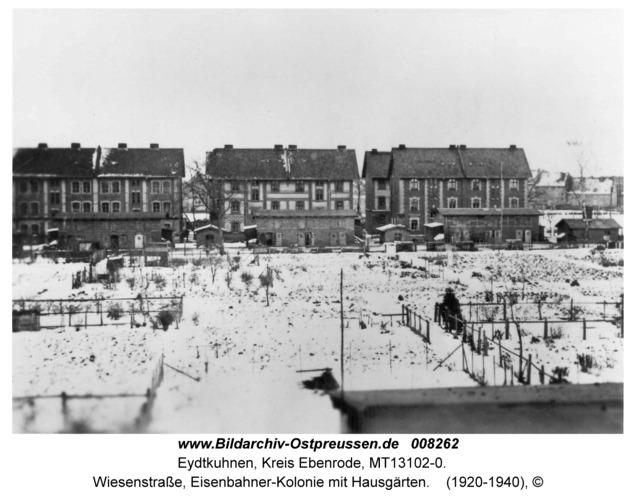 Eydtkau, Wiesenstraße, Eisenbahner-Kolonie mit Hausgärten