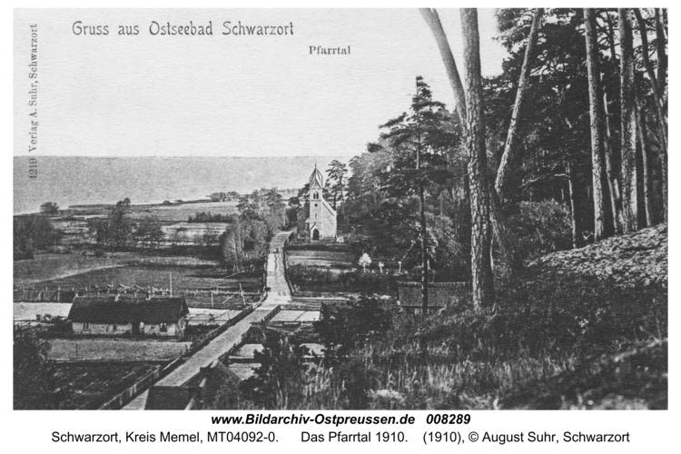 Schwarzort, Das Pfarrtal 1910