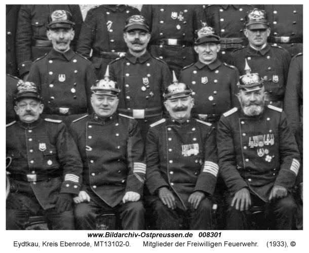 Eydtkau, 50-Jahr-Feier der Freiwilligen Feuerwehr, Mitglieder der Feuerwehr