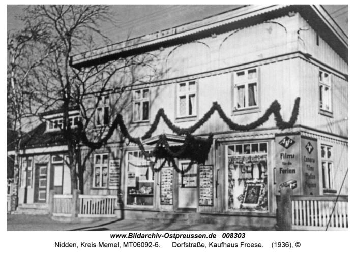 Nidden, Dorfstraße, Kaufhaus Froese