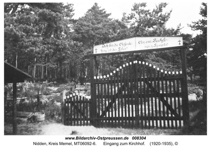 Nidden, Eingang zum Kirchhof