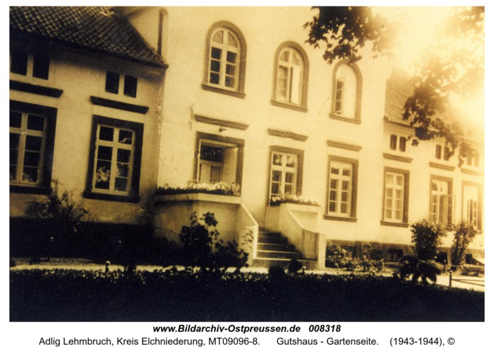 Adlig Lehmbruch, Gutshaus - Gartenseite