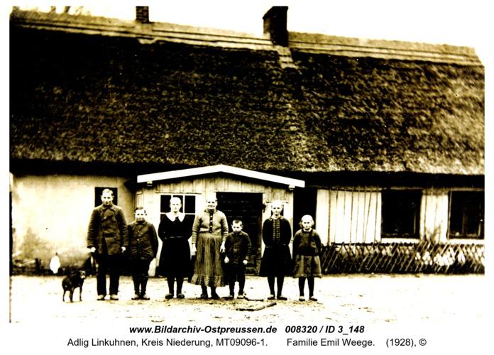 Adlig Linkuhnen,  Familie Emil Weege