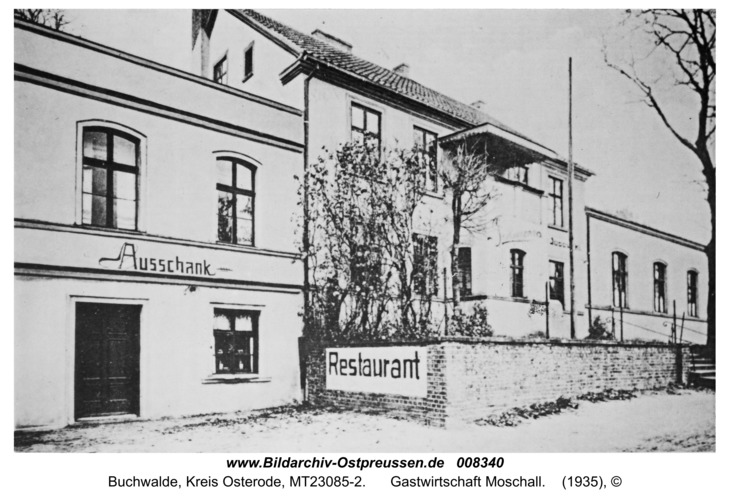 Buchwalde Kr. Osterode, Gastwirtschaft Moschall