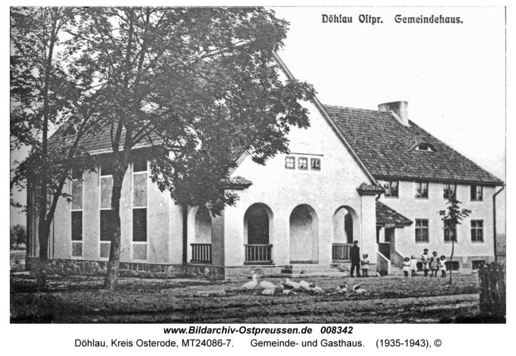 Döhlau, Gemeinde- und Gasthaus