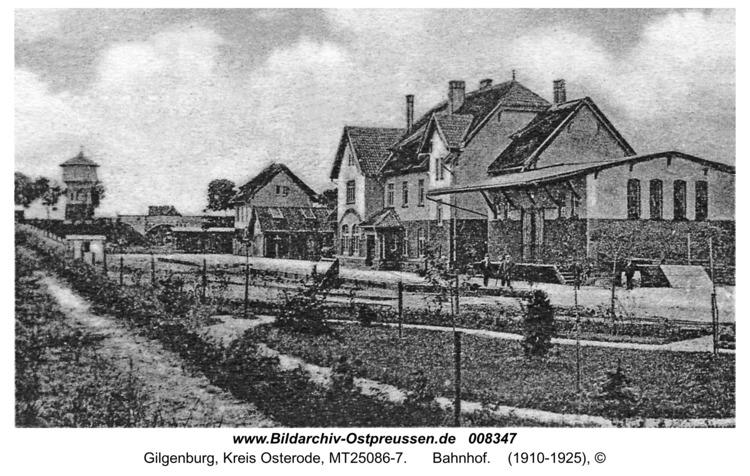 Gilgenburg, Bahnhof
