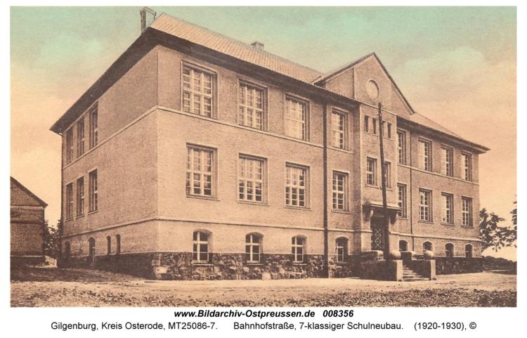 Gilgenburg, Bahnhofstraße, 7-klassiger Schulneubau
