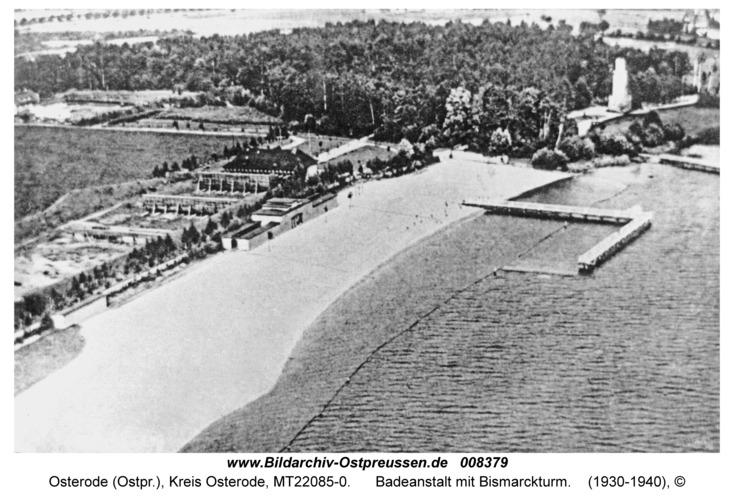 Osterode, Badeanstalt mit Bismarckturm