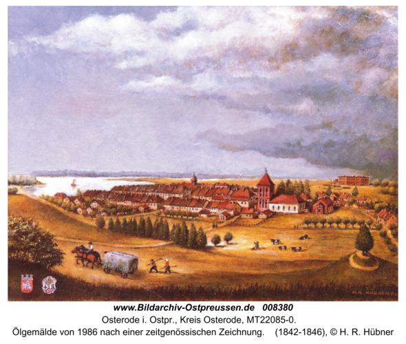 Osterode, Ölgemälde von 1986 nach einer zeitgenössischen Zeichnung
