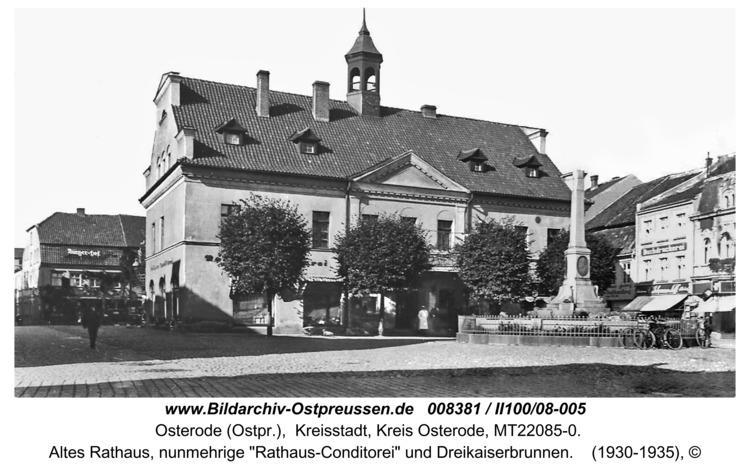 Osterode, Altes Rathaus mit Kaisersäule