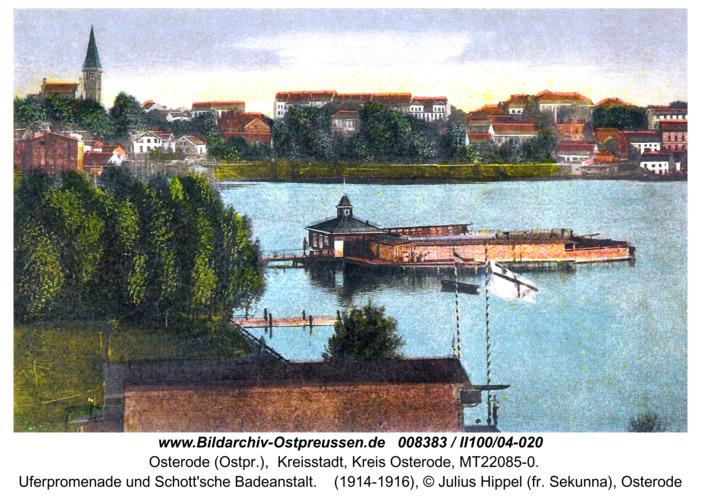 Osterode-Drewenszsee, Uferpromenade und Badeanstalt