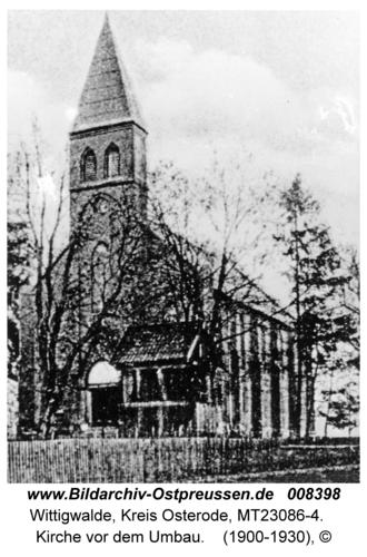 Wittigwalde, Kirche vor dem Umbau