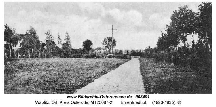 Waplitz, Ehrenfriedhof